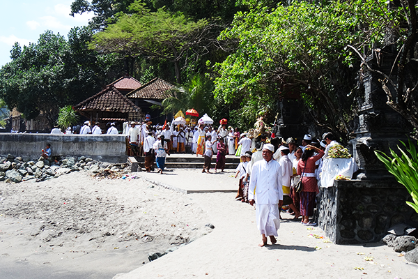 Hindu ceremony near Mataram