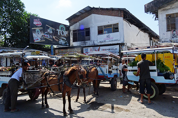 Horse carriages in Mataram