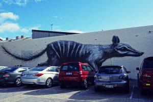 Numbat mural by ROA