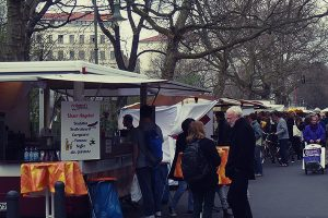 Local Saturday food market at Kollwitzstrasse.