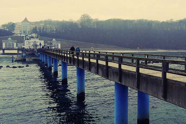 The well known pier in Sellin.
