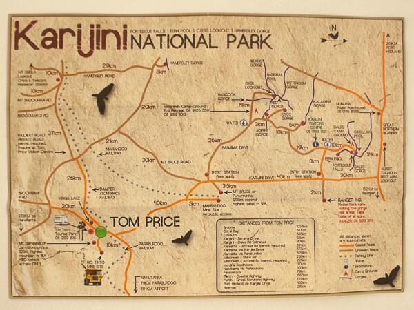 Karijini National Park Map 2 days in Karijini National Park, Western Australia   Quokka Travel